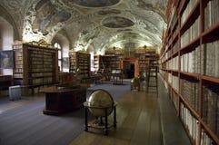图书馆布拉格strahov 免版税库存照片