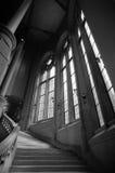 图书馆楼梯suzzallo 免版税图库摄影