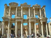 图书馆的废墟在Efes 免版税图库摄影