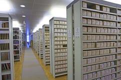 图书馆目录 免版税库存图片