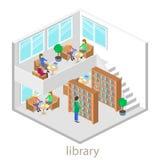 图书馆等量内部  免版税库存照片