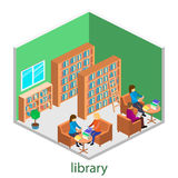 图书馆等量内部  库存图片