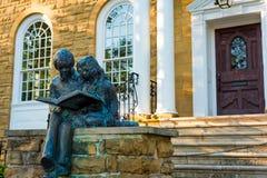 图书馆雕塑 免版税库存图片