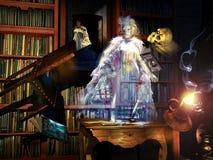 图书馆鬼魂 库存例证