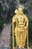 巴图使印度宗教纪念碑吉隆坡马来西亚陷下 免版税库存图片
