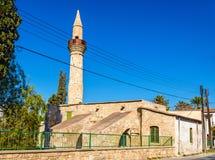 图兹拉清真寺在拉纳卡 免版税库存图片