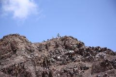 图卜卡勒峰峰顶,摩洛哥 图库摄影