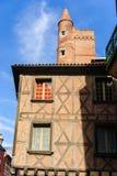 图卢兹,法国中世纪老镇  免版税库存照片