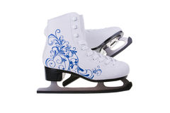 图在白色背景滑冰隔绝 库存照片