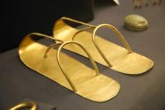 图坦卡蒙国王珍宝埃及人博物馆金子  免版税库存照片