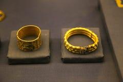图坦卡蒙国王珍宝埃及人博物馆金子  库存图片