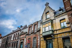 图尔奈房子,比利时 免版税库存照片
