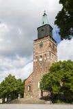 图尔库大教堂芬兰 库存照片