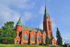 图尔库,芬兰。圣迈克尔教会  免版税库存照片