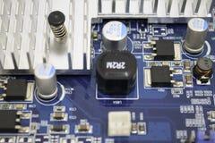 图形卡PCB细节 免版税库存照片