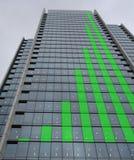 图形绿色摩天大楼 免版税库存图片