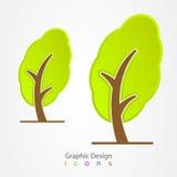 图形设计商标自然树eco 库存图片