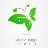 图形设计商标蝴蝶象 免版税图库摄影