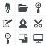 图形设计图标 免版税库存图片