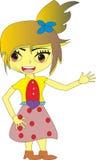 图形设计图画动画女孩 库存图片