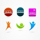 图形设计社会网络象网标志 免版税图库摄影
