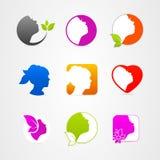 图形设计象面孔集合网 免版税库存图片