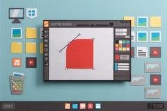 图形设计软件 免版税库存照片