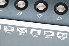 图形输入板和按钮 免版税库存照片