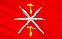 图拉州,俄罗斯联邦旗子  库存例证