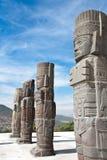 图拉- Toltec考古学废墟 免版税库存图片