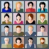 图标一人人员集合用户工作 免版税库存照片