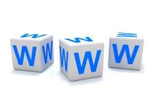 图标万维网宽世界 免版税库存照片