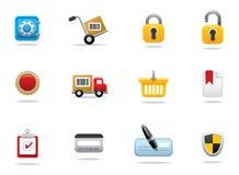 图标互联网购物 免版税库存照片