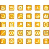 图标互联网集合站点万维网 免版税库存图片