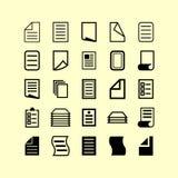 图标例证办公室集合文教用品向量 免版税库存照片