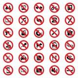 图标例证禁止的路辗符号冰鞋向量 库存例证