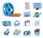 图标信息介质 图库摄影
