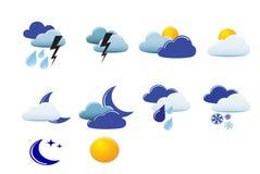 图标向量天气 库存照片