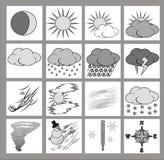 图标天气 免版税库存图片