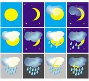 图标天气 皇族释放例证