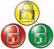 图标安全系统 免版税库存照片