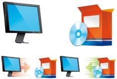 图标安装卸载 免版税库存照片