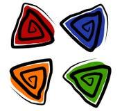 图标形状螺旋三角 免版税库存图片