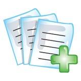 图标患者记录 免版税图库摄影
