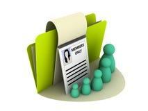 图标成员 免版税图库摄影
