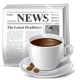 图标报纸 免版税库存照片