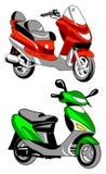 图标摩托车向量 免版税库存照片