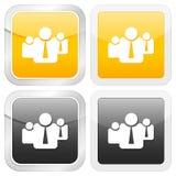 图标方形小组 免版税图库摄影