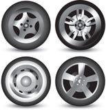 图标查出的轮胎 图库摄影