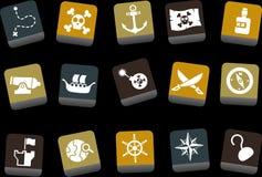 图标海盗集 免版税库存照片